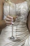 De bruids toost van Champagne Royalty-vrije Stock Afbeeldingen