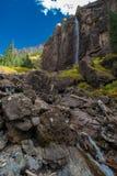 De bruidssluier valt Telluride Colorado de V.S. Stock Foto's