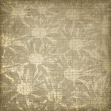 De bruine achtergrond van Grunge met bloemenornament. Stock Foto's