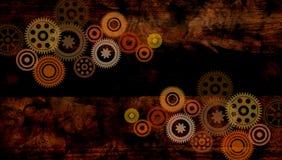 De Bruine Achtergrond van radertjestoestellen Vector illustratie royalty-vrije illustratie