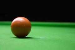 De bruine bal van de snooker Royalty-vrije Stock Foto's