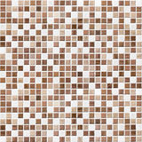 De bruine betegelde badkamers, keuken of toiletachtergrond van de tegelmuur Royalty-vrije Stock Foto's