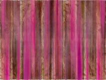 De bruine en roze strepen van de waterverfwas Royalty-vrije Stock Foto