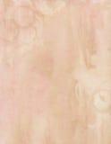 De bruine en roze zachte grungy achtergrond van de waterkleur Stock Afbeeldingen