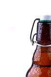 De bruine Fles van het Bier (Duits Bier) Royalty-vrije Stock Afbeeldingen