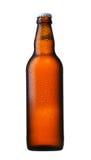 De bruine fles van het glasbier royalty-vrije stock foto's