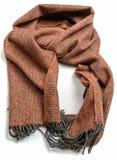 De bruine geïsoleerde sjaal van de lamswol royalty-vrije stock fotografie