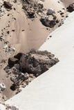 De bruine Grijze Fusie van de Rotsen van het Zand Royalty-vrije Stock Fotografie