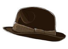 De Bruine hoed Fedora van mensen Royalty-vrije Stock Fotografie