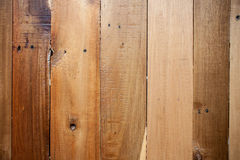 De bruine houten achtergrond van de muurtextuur Stock Foto