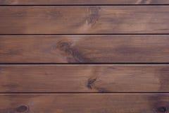De bruine houten achtergrond van horizontale planken mooie ideale perfecte vlotte houten horizontale oppervlakte isolaed achtergr royalty-vrije stock fotografie