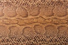 De bruine imitatie van het slangpatroon, achtergrond stock afbeeldingen