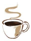 De bruine kop van de Koffie Royalty-vrije Stock Foto's