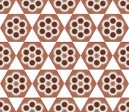 De bruine Naadloze Achtergrond van het Bloempatroon Stock Illustratie