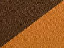 De bruine oranje macro van de stoffentextuur Royalty-vrije Stock Foto's