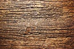 De bruine oude houten achtergrond van de patroontextuur Textuur oude droge houten barsten stock foto