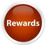 De bruine ronde knoop van de beloningenpremie Stock Afbeelding