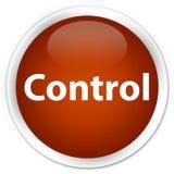 De bruine ronde knoop van de controlepremie Royalty-vrije Stock Foto's