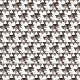 De bruine schaduwdriehoek overlapte diagonale gestreepte patroonbackgro Stock Afbeelding