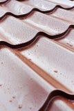 De bruine tegels van het metaaldak Royalty-vrije Stock Afbeelding