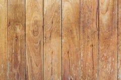 De bruine textuur en de achtergrond van de plank houten muur Stock Afbeelding