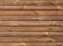 De bruine textuur van de logboek houten muur Royalty-vrije Stock Afbeelding