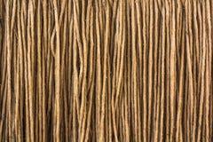 De bruine textuur van de garenkabel royalty-vrije stock afbeeldingen
