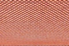 De bruine textuur van het keramische tegeldak voor achtergrond Stock Foto