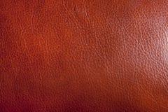 De bruine Textuur van het Leer stock fotografie