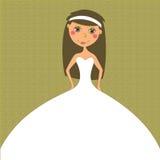De bruine uitnodiging van het Huwelijk Stock Fotografie