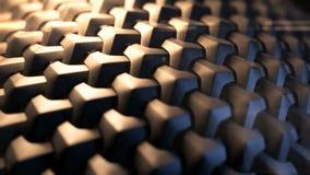 De bruine van de katoenen bewegingen doekoppervlakte stock videobeelden