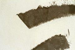 De bruna väggarna är bakgrund Arkivbilder
