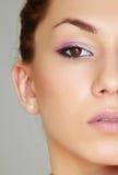 De brunette van de schoonheid Royalty-vrije Stock Foto's