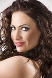 De brunette van het portret met kapsel Royalty-vrije Stock Afbeelding