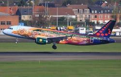 A320 de Bruxelles Images libres de droits