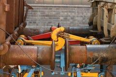 De Buffers van de Auto van de spoorweg Stock Afbeelding