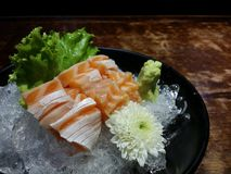 De buik van de sashimizalm op ijs Royalty-vrije Stock Foto