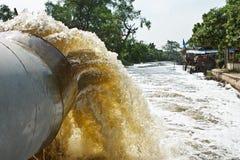 De buis van de drainage Stock Foto
