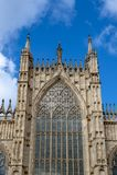 De buiten bouw van de Munster van York, de historische kathedraal ingebouwde Engelse gotische die stijl in Stad van York, Engelan royalty-vrije stock foto