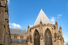 De buiten bouw van de Munster van York, de historische kathedraal ingebouwde Engelse gotische die stijl in Stad van York, Engelan stock foto