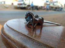 De buitengewone sleutelring van het onduidelijk beeldpaard Stock Afbeelding