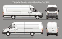 De Buitengewoon lange Levering Van Blueprint van VW Crafter Royalty-vrije Stock Afbeeldingen