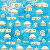 De buitenhuizenpatroon van de winter Stock Foto