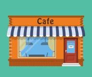 De buitenkant van de koffiewinkel vector illustratie