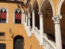 De buitenkant van Estense van het kasteel Royalty-vrije Stock Afbeeldingen