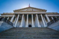 De buitenkant van het Capitool van Verenigde Staten, in Washington, gelijkstroom royalty-vrije stock afbeeldingen