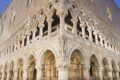 De buitenkant van het doge` s paleis royalty-vrije stock foto