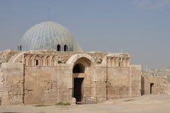De Buitenkant van het Umayyadpaleis, Amman Stock Afbeeldingen
