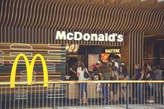 De buitenkant van de McDonald` s opslag Royalty-vrije Stock Fotografie
