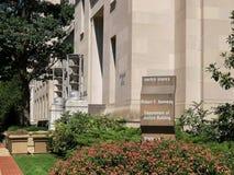 De buitenkant van ons de rechtvaardigheidsafd. bouw in Washington royalty-vrije stock foto's